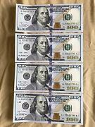 4 Consecutive Series 2009 Ll 100 Dollar Bills Mint Conditionhard To Find
