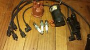 1993 Volvo 240 Complete 4 Spark Plugs Plus 5 Wires, Rotor And Cap Distributor Set