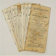 Improved Order Of Red Men Historical Documents - Poneto Wells County Indiana