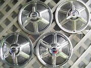 1965 65 Ford Mustang Spinner Hubcaps Wheelcovers Center Caps Antique Vintage