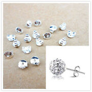 500pcs Free Shipping 925 Sterling Silver Back Stoppers Earrings Jewelry Findings