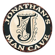 Cpmc-0055 Jonathanand039s Man Cave Rustic Chic Tin Sign Man Cave Decor Gift Ideas