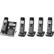 Panasonic Dect 6.0 Bluetooth Cordless Phone With Answering Machine And 5-handset