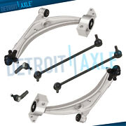 Front Lower Control Arms + Ball Joints 2 Front Sway Bar Links - Outer Tie Rods