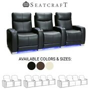 Seatcraft Solstice Leather Home Theater Seating Recliners Seat Chair Couch