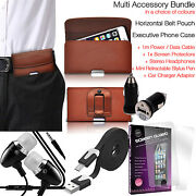 Quality Horizontal Belt Clip Pouch Holster Flip Case Holder✔accessory Pack✔brown