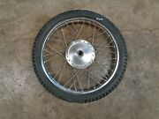 73 1973 Yamaha Dt 250 Dt250 Motorcycle Body Front Wheel Tire 3.00-21 Rim Spokes