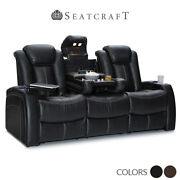 Seatcraft Republic Leather Home Theater Seating Sofa Recliner Chair Couch