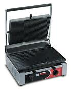 Sirman 34a2601105si Single Panini Grill W/ Grooved Top And Flat Bottom