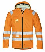 Snickers Workwear 8233 High-vis Rain Jacket Class 3 Snickersdirect Orange Preord