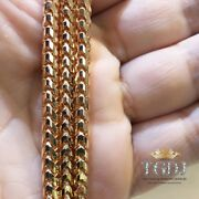 10k Rose Gold Franco Round Diamond Cut Necklace Chain Solid 4mm Size 24-30