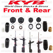 Set Of 4 Kyb Struts Front And Rear Strut Mounts And Dust Boots Lexus Rx330 Fwd
