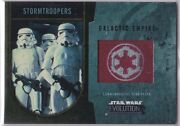 Star Wars 2016 Topps Evolution Commemorative Flag Patch Gold Stormtroopers 12/25