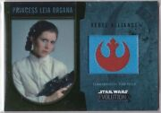 Star Wars 2016 Topps Evolution Commemorative Flag Patch Gold P Leia Organa 21/25