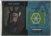 Star Wars 2016 Topps Evolution Commemorative Flag Patch Gold Nute Gunray 11/25