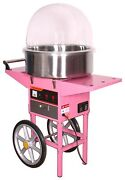 Cotton Candy Maker Machine/cover With Cart Stainless Steel Candy Floss Bowl