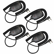 4-pack 2pin Mini Speaker With Ptt Microphone For Kenwood Tk Series Two-way Radio