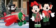 2009 Disney Store Mickey Mouse Plane Animated Propeller Inflatable Airblown
