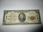 20 1929 Mckees Rocks Pennsylvania Pa National Currency Bank Note Bill 5142 Fine