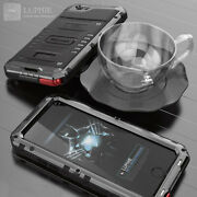 Waterproof Shockproof Aluminum Metal Glass Case Cover For Iphone 12 11 Pro Max 8
