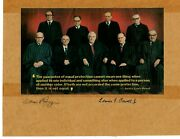 Justicesand039s William Rehnquist Lewis Powell Hand Signed 10.25x7.7 Mueller Coa