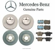 For Mercedes W213 S213 Turbo Front And Rear Disc Brake Rotors And Pad Sets Genuine