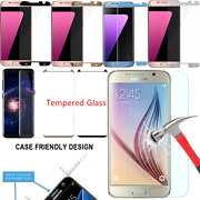 Lot Case Friendly Tempered Glass Screen Protector Samsung Galaxy S7/s8 Plus Edge