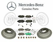 For Mercedes W906 Front And Rear Brake Discs Rotors+f And R Pad Set+sensors Kit