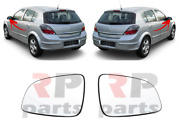For Vauxhall Opel Astra H Mk5 2004-2009 Wing Mirror Glass Heated Pair Set Lhd