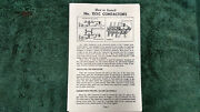 Lionel 153c And 452 Gantry Signal Instructions Photocopy
