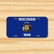Wisconsin State Flag License Plate Vehicle Auto Tag Milwaukee Wi Free Shipping