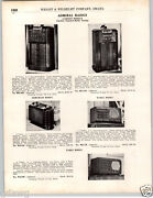 1937 Paper Ad 2 Pg Admiral Radio Console Table Radios Armchair Side Table Farm