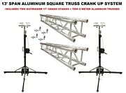 Two 17' Crank Up Stands With Two 6.56' Square Aluminum Truss Segments Package