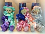 3 Pack - Lucy Clown Collectible Hand Made Dolls - 3 Colors 20 Height Z114500