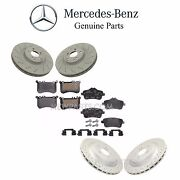 For R172 Slc43 Amg 2017 Front And Rear Brake Pad Sets And 2 Disc Rotors Genuine