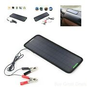 Solar Powered 18v 5w Maintainer Panel Battery Charger Car Auto Boat Atvs Marine