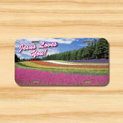 Jesus Loves You License Plate Vehicle Auto Tag Religious Peace Free Shipping New
