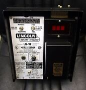 Lincoln Ln-9f Wire Feeder Wire Drive Flux Hopper And Control Cables - Unused