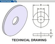 Gasket Outside Diameter 50mm, Thickness 3mm Select Inside Dia, Material, Pack