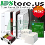 Evolis Primacy Dual Side Expert Fire Red Starter Photo Id Card Printer System