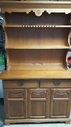 Tell City Young Republic China Hutch W/base Hard Rock Andover Maple