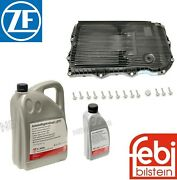 For Jaguar F-type 6 Liters Automatic Transmission Fluid W/ Oil Pan And Filter Kit