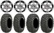 Itp Ss212 12 Wheels Machined 25 Bighorn Tires Yamaha Grizzly Rhino