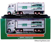 Hess Toy Truck - 2013 Hess Miniature 18 Wheeler And Racecars Free Shipping