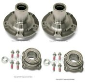 For Bmw E70 X5 X6 Set Of Rear Left And Right Wheel Hubs Drive Flange W/ Bearings
