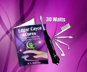 Edgar Cayce Cures Violet Ray 30 W High Frequency Wand W 4pc Electrodes Handbook