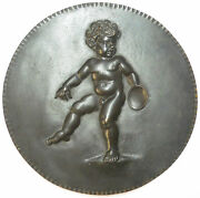 Nude Baby Holding A Bowl Large Cast Bronze 158mm About 6 Inches