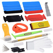 8in1 Glass Tint Install Remove Tools Vinyl Squeegee Car Wrap Applicator Us Ship