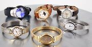 Lot Of 6 Timex Ladies Wrist Watches Includes Expedition 2064b