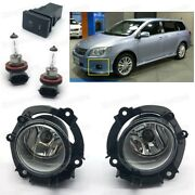 Bumper Fog Lights Lamps Cover Switch Set For Toyota Corolla Fielder Wagon 2009